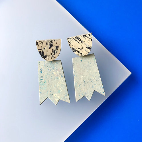Ghost earrings - Bluemoon/Print