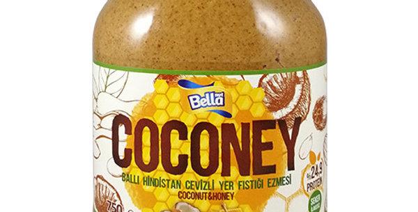 BellaNut Coconey Fıstık Ezmesi  (Yer Fıstığı Ezmesi, Bal, Hindistan Cevizi)