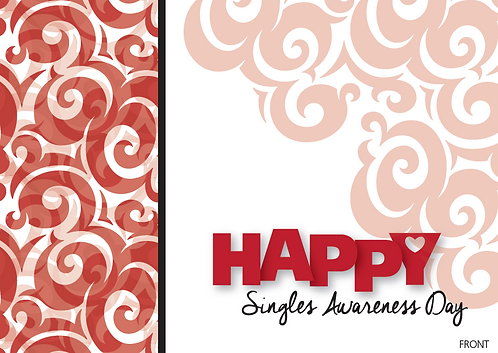 Singles Awareness Day Card – assorted 12 pack