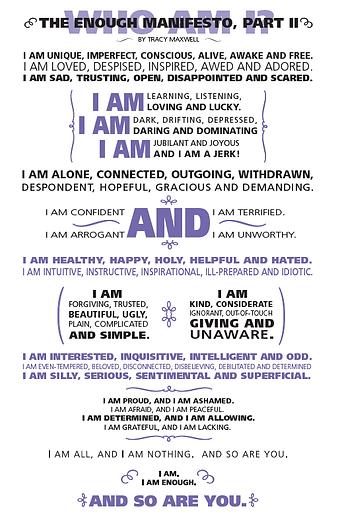 Enough Manifesto part 2