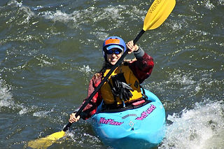 Tracy Maxwell kayaking