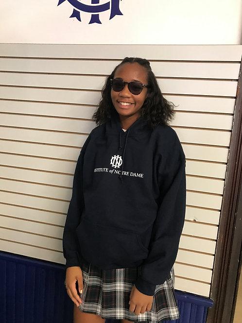 Navy pocket hoodie