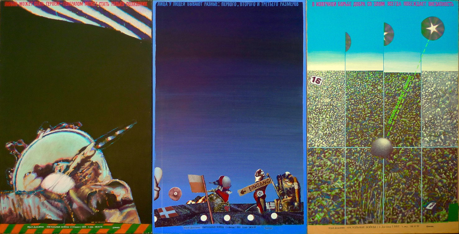 """""""Table top wars"""" 1989. triptych."""