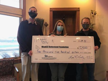 Waukee Family Dentistry Donation