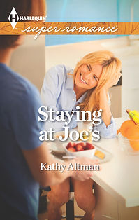 cover for Harlequin Superromance STAYING AT JOE'S, a funny and sexy smalltown contemporary romance