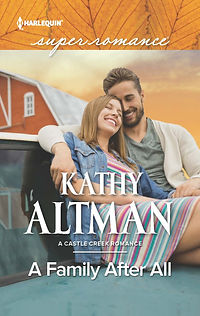 cover for Harlequin Superromance A FAMILY AFTER ALL, a funny and sexy smalltown contemporary romance