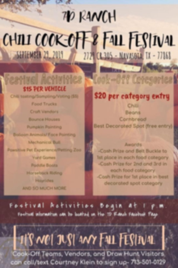 7D Ranch Chili Cook-off and Fall Festival