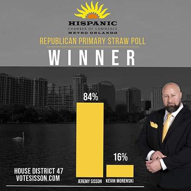 Hispanic Chamber Straw Poll primary resu