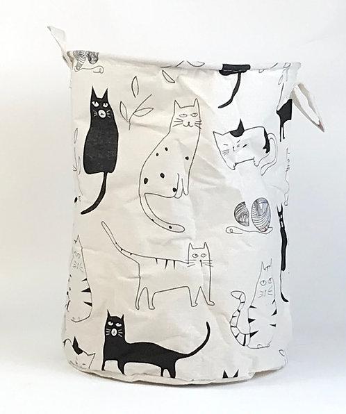 Canasto de tela Organizador gatos