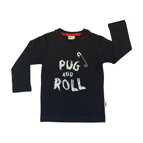 Remera Pug and Roll