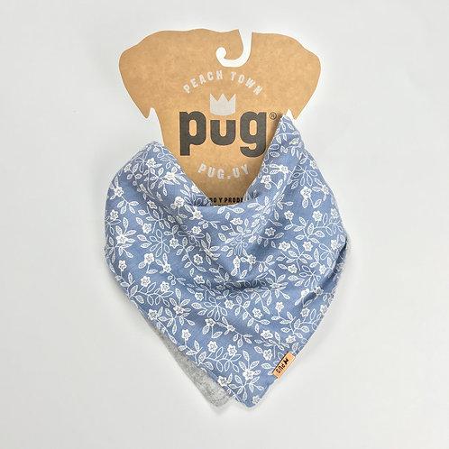 Pañuelo de abrigo - jean con flores