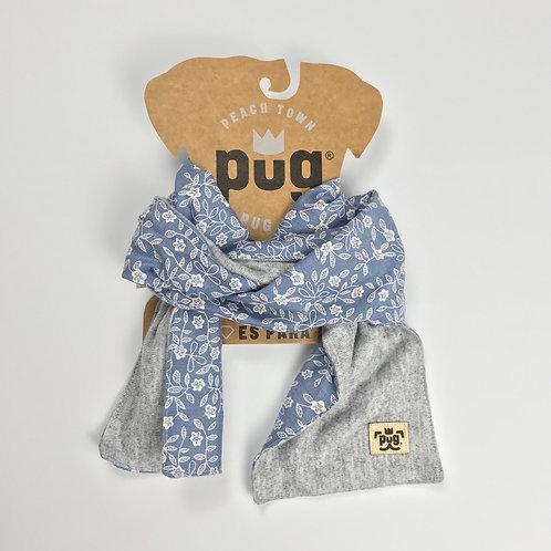 Foulard - jean con flores