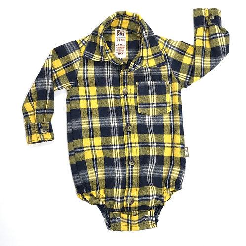 Body camisa bebé viyela escocés