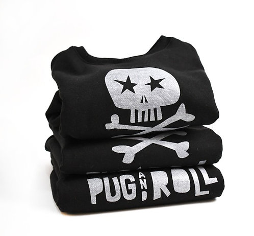 Buzo algodón afelpado - Calavera Pug and Roll