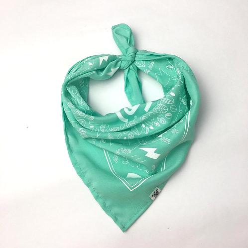 Pañuelo bandana Verde Agua