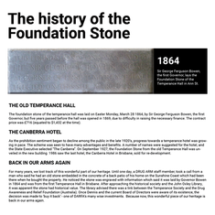 History of the DARFA Foundation Stone
