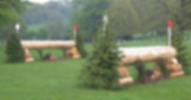Portable cross country log jumps Chatsworth International Horse Trials David Evans