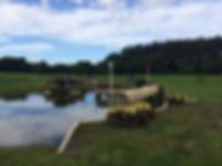 burgham horse trials water jump