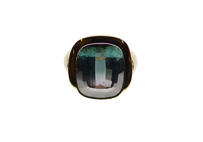 Ring, Turmalin Blau Grau