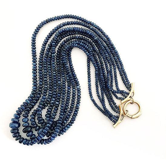 Collier 5 Rang Saphire blau