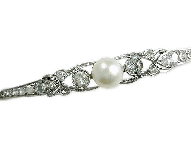 Jugendstil Armketteli mit Perle& Diamanten