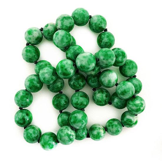 Jadeit Collier grün