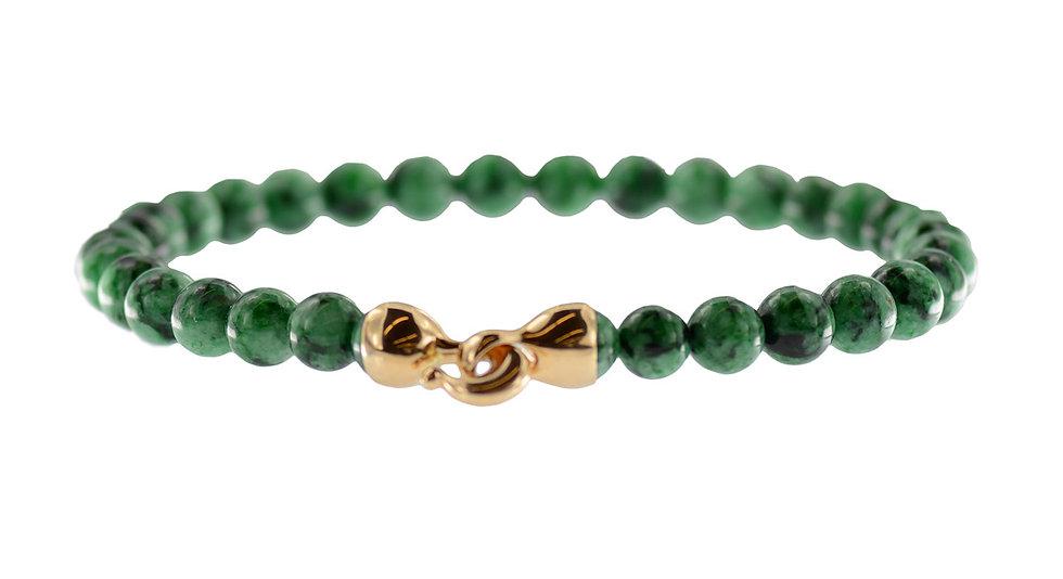 Collier // Jadeit Kugeln, grün