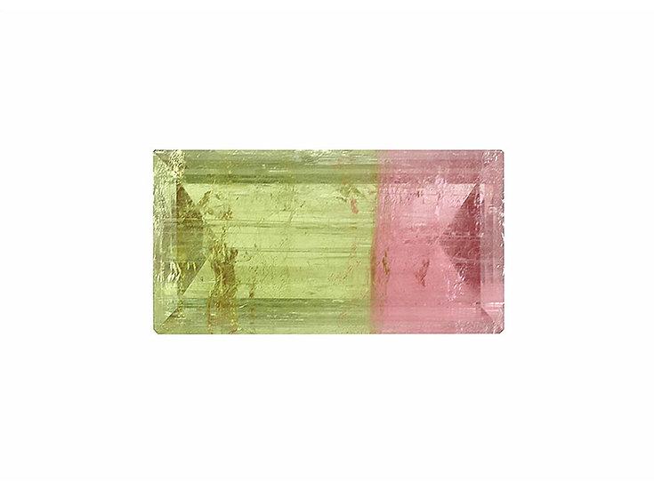 Turmalin facettiert, pink - grün