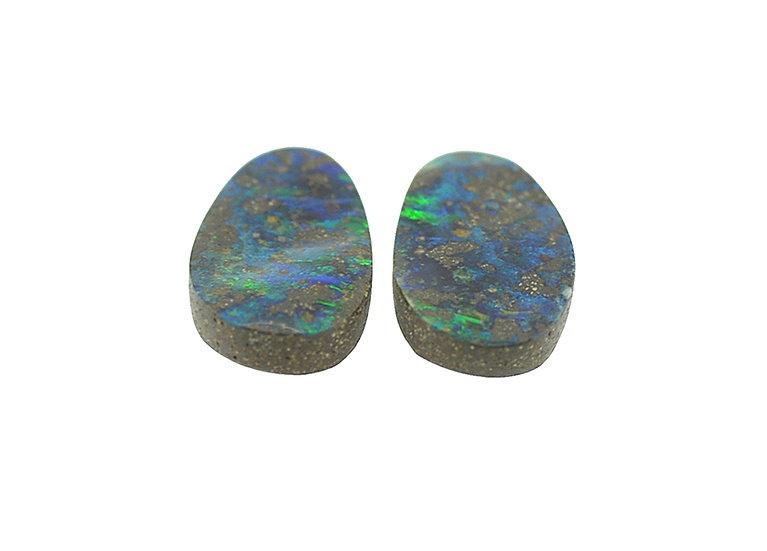 Paar Boulder Opale