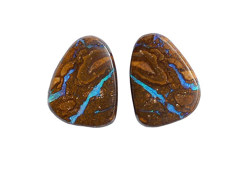 Paar Boulder Opale, Matrix
