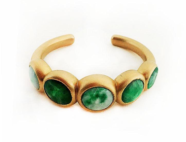 Armspange mit antiken Jadeit Knöpfen