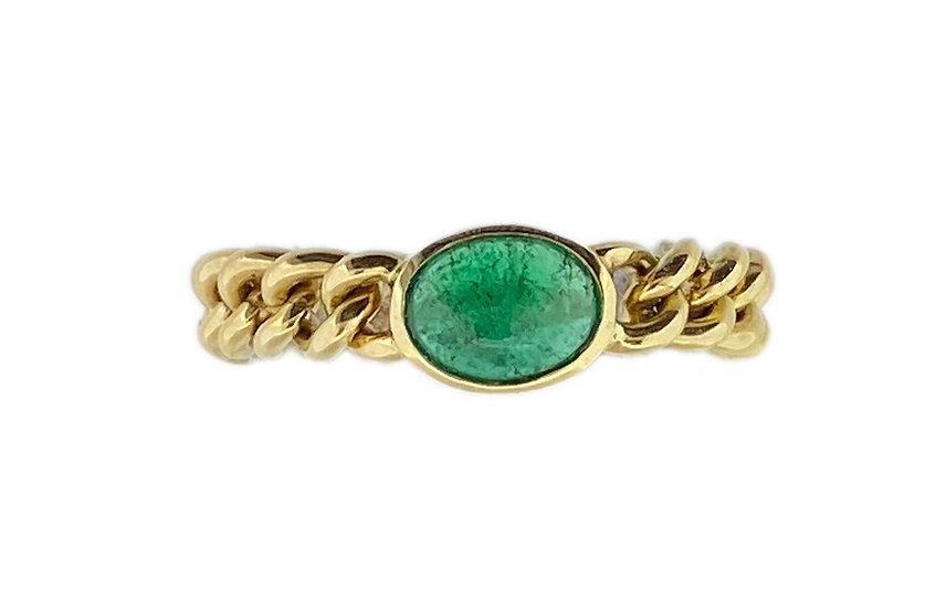 Ketteli Ring (Panzer) mit Smaragd