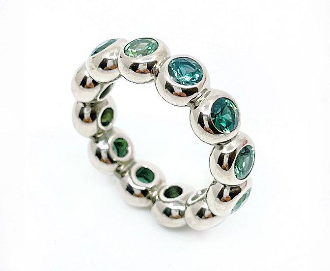 Ring Bobbles6 mit blauen Saphiren