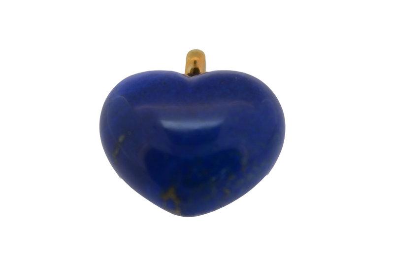 Anhänger Herz // Lapis Lazuli // Gelbgold 750