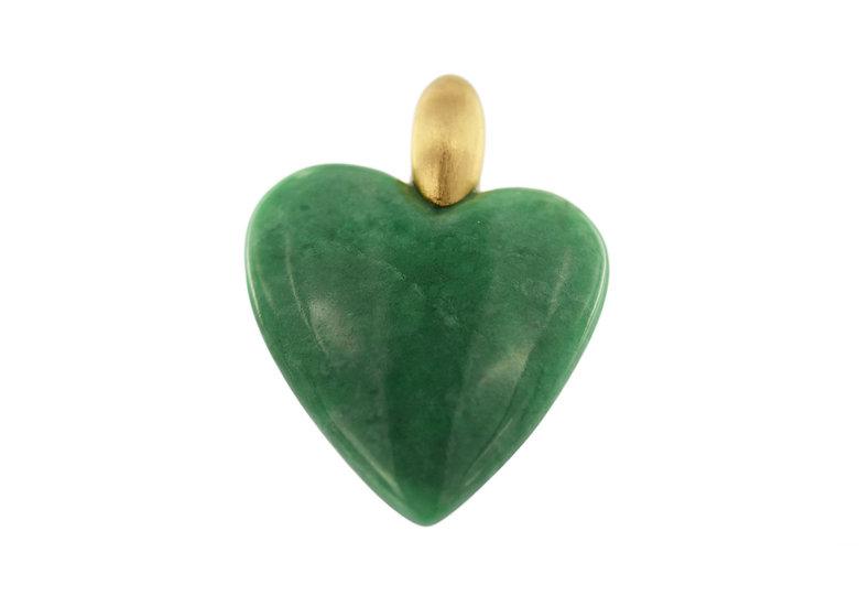Anhänger Jadeit Herz, grün