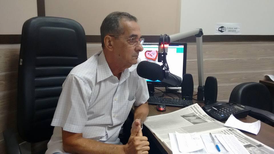 Radialista Jairo Alves de Almeida, apresentador do programa Linha Direta