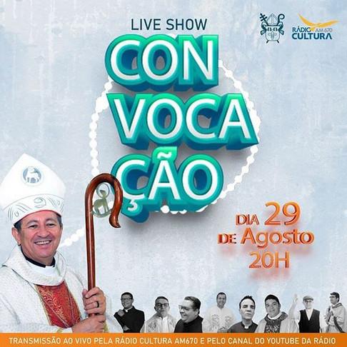 Live show ConVocação vai coroar Mês Vocacional na Arquidiocese