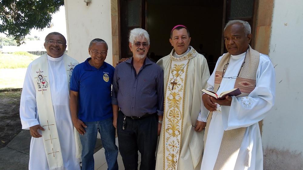 Pe. Francisco Nunes, Ricardo Lima, Paulo Machado, Dom João e Pe. José Lima