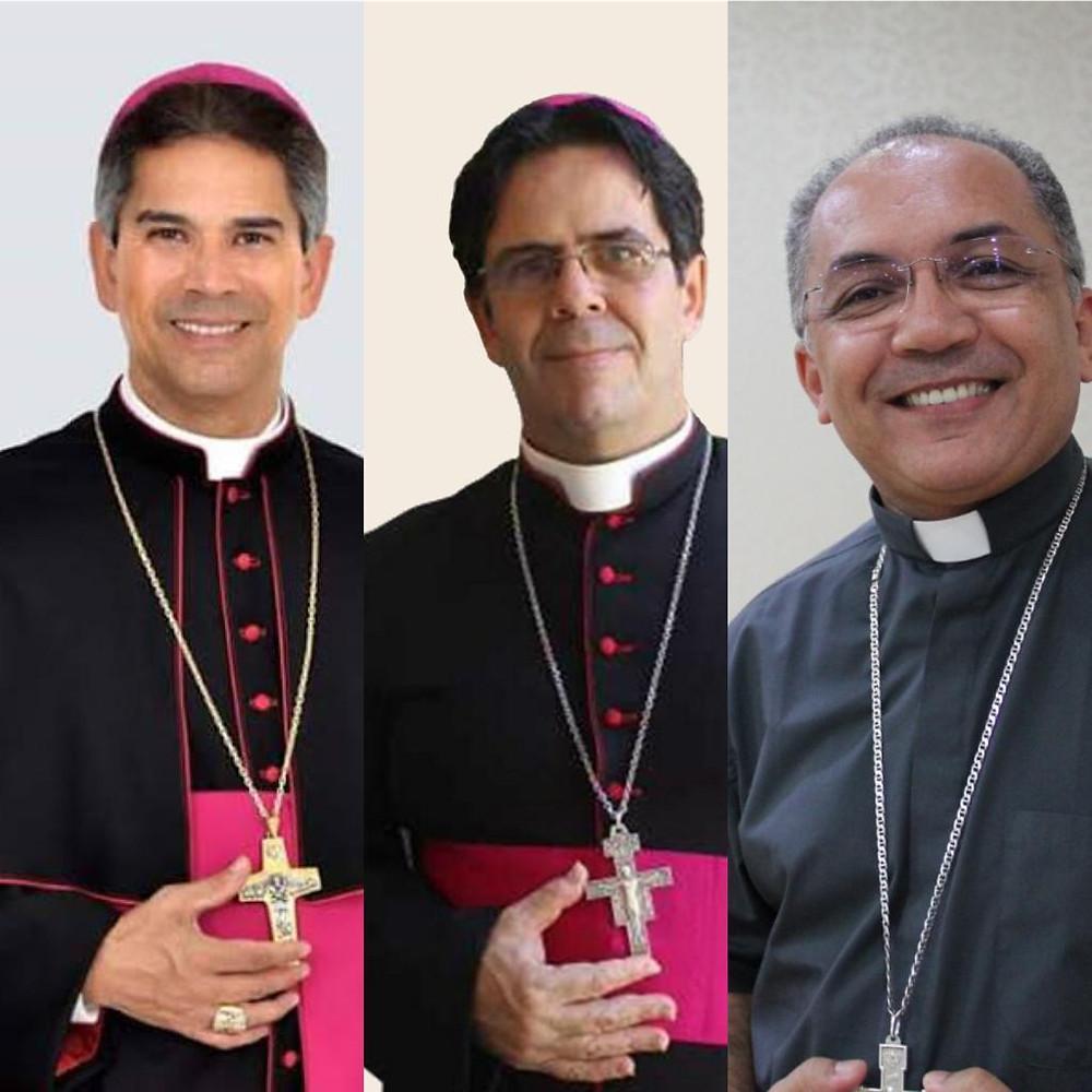 Dom João Santos, Dom Carlos Alberto e Dom Vitor Aguinaldo