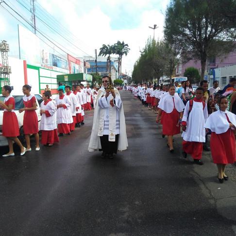 Encontrão reúne mais de mil coroinhas da Arquidiocese, em Itabaiana