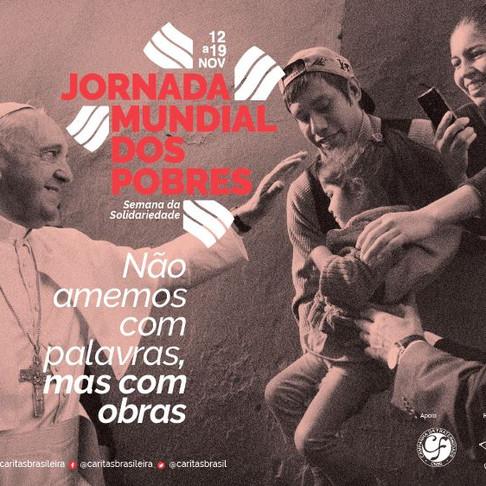 Arquidiocese de Aracaju vai aderir à Jornada Mundial dos Pobres, organizada pela Cáritas Brasileira