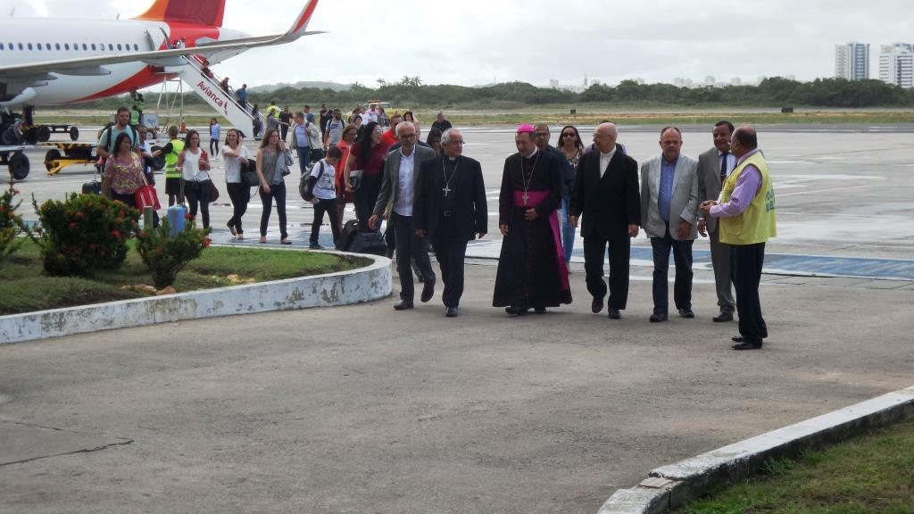 Recepção no Aeroporto de Aracaju