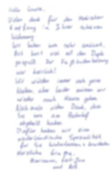 Handschriftliche-Bewertung-eines Gastes-