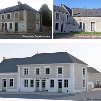 Réhabilitation et transformation d'un ancien café en maison des associations
