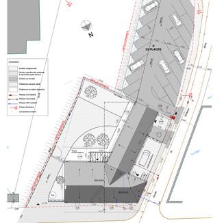 Création d'un aménagement extérieur avec parking