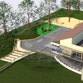 Rénovation d'une école maternelle et aménagement de ses espaces extérieurs