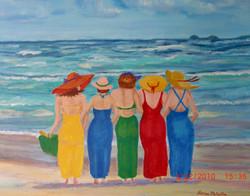 Girlfriends at the Beach