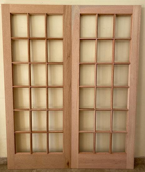 Small Pane Double Doors