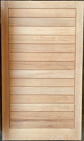 Horizontal Slatted Pivot Door