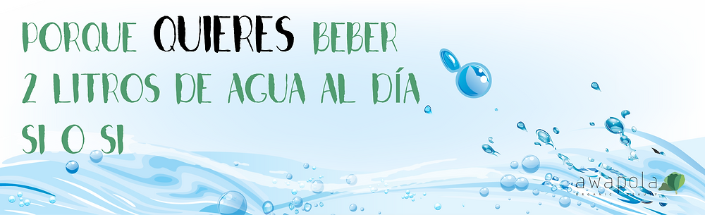 razones para beber agua